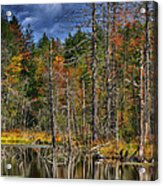 Beaver Pond Reflections Along The Highland Scenic Highway Acrylic Print