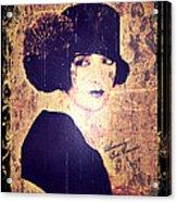 Bebe Daniels - 1920s Actress Acrylic Print by Absinthe Art By Michelle LeAnn Scott