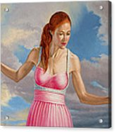 Becca In Pink Acrylic Print by Paul Krapf