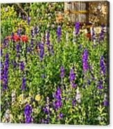 Becker Vineyards' Flower Garden Acrylic Print