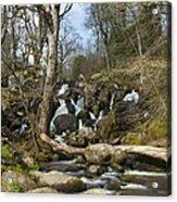 Becky Falls Dartmoor Acrylic Print by Donald Davis