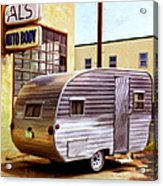 Becky's Vintage Travel Trailer Acrylic Print