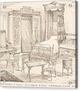 Bedchamber Furniture In The Japanese Acrylic Print