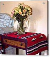 Bedside Desert Roses Palm Springs Acrylic Print