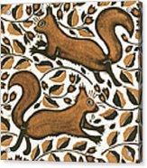 Beechnut Squirrels Acrylic Print