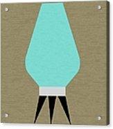 Beehive Lamp Turquoise Acrylic Print