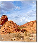 Beehive Rock Formation Under A Stormy Sky In Nevada Valley Of Fire State Park Acrylic Print