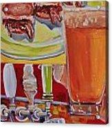 Beer And Pork Sliders Acrylic Print