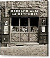 Beer Bar In Bergamo Acrylic Print