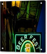 Beer Fest And Lamp Acrylic Print