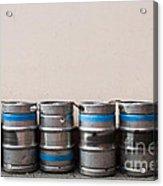 Beer Kegs Acrylic Print