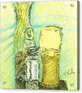 Beer N Nuts Acrylic Print by William Killen