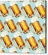 Beer Pattern Acrylic Print