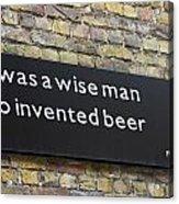 Beer Sign Acrylic Print