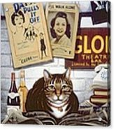 Beerbohm, The Theatre Cat Oil & Tempera On Panel Acrylic Print