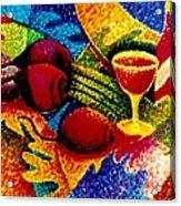 Beet Salad Pointillism Acrylic Print