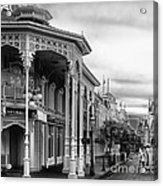 Before The Gates Open In Black And White Walt Disney World Acrylic Print