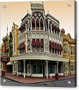 Before The Gates Open Magic Kingdom Main Street. Acrylic Print