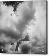 Before The Storm Clouds Stratocumulus 5 Bw  Acrylic Print