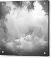 Before The Storm Clouds Stratocumulus Bw 7 Acrylic Print