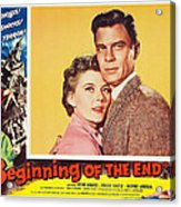 Beginning Of The End 1957 Acrylic Print