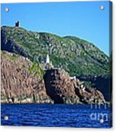 Behind Fort Amherst Rock By Barbara Griffin Acrylic Print