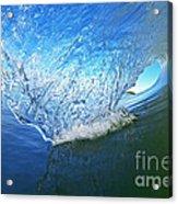 Behind The Blue Curtain Acrylic Print