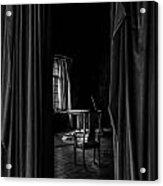 Behind The Curtain Acrylic Print by David Mcchesney