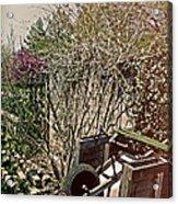 Behind The Garden Acrylic Print