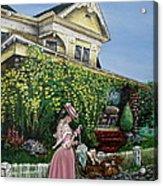 Behind The Garden Gate Acrylic Print by Linda Simon