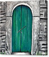 Behind The Green Door Acrylic Print