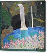 Behind The Waterfall Acrylic Print