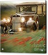 Behind The Wheel Acrylic Print by Edmund Nagele