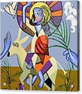 Behold The Lamb Of God Acrylic Print by Anthony Falbo