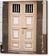 Beige Double Doors Acrylic Print