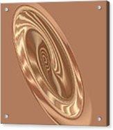 Beige Satin Oval 1 Acrylic Print