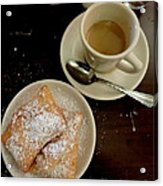New Orleans Beignets And Coffee Au Lait  Acrylic Print