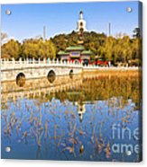 Beijing Beihai Park And The White Pagoda Acrylic Print by Colin and Linda McKie