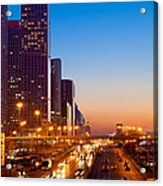 Beijing Central Business District China Acrylic Print by Fototrav Print