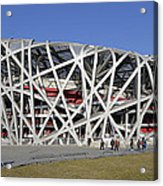 Beijing National Stadium - Site Of 2008 Olympic Games Acrylic Print by Brendan Reals