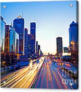 Beijing Skyline At Night Acrylic Print