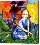 Tiny Flower Fairy Acrylic Print