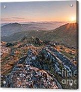 Sunset From Beinn Ghlas - Scotland Acrylic Print