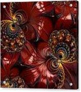 Bejewelled Crimson Acrylic Print