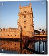Belem Tower At Sunrise In Lisbon Acrylic Print