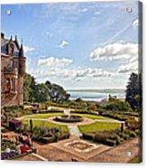 Belfast Castle Cat Garden Acrylic Print
