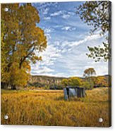 Belfry Fall Landscape Acrylic Print by Roger Snyder