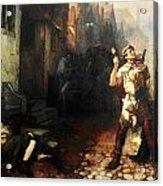Belgian Ferdinand Pauwels The Plague In Ypres Acrylic Print