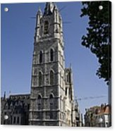Belgium. Ghent. Bell Tower Of The City Acrylic Print