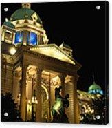 Belgrade Parliament  Acrylic Print